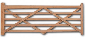 tapered top rail entrance gate