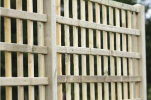 deluxe square trellis fence panel