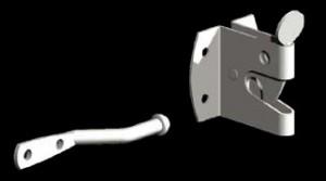 galvanised auto latch