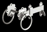 galvanised ring latch