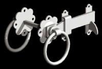 galvanised ring latch