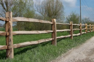 cleft chestnut post rail