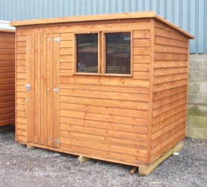 pent featheredge shed