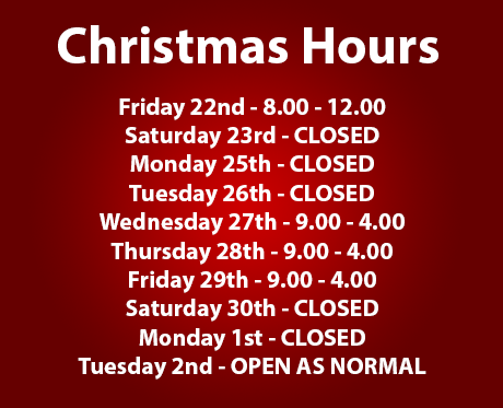 Blamphayne Sawmills Christmas Hours